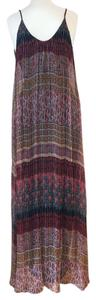 Multi Color Maxi Dress by Blu Moon Bohemian Festival Summer Silk Coachella