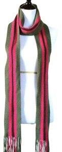 Express Striped Knit Wool Scarf