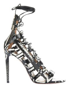 Aquazzura Black and White Sandals