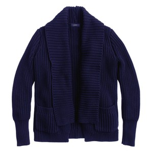 J.Crew Navy Cotton Chunky Heavy Cardigan