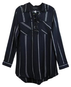 Alison Andrews Button Down Shirt Dark Navy