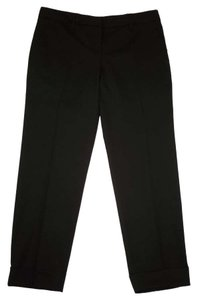 Prada Cropped Cuffed Wool Ankle Pants