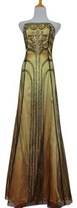 Sue Wong Maxi Gown Beaded Embellished Formal Dress