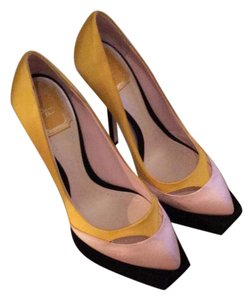 Dior Yellow combination Pumps