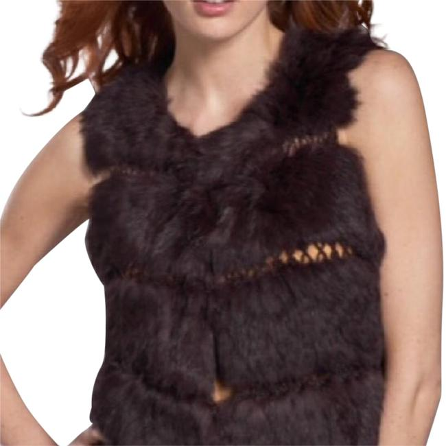 Item - Brown Rabbit Hair Vest Size OS (one size)
