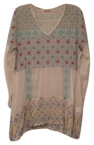 Johnny Was Embroidered Geometric Longsleeve V-neck Tunic