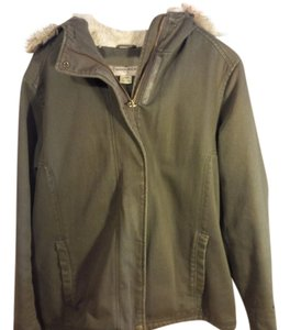 Woolrich Faux Fur Winter Hooded Green Large Coat