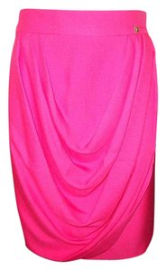 Chanel Draped Silk Jewel Skirt Pink