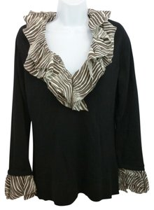 Tory Burch Black Knit Sweater Top