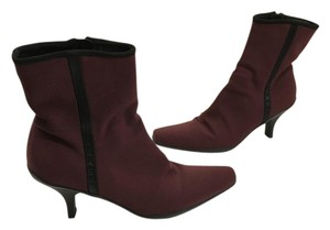 Prada Non Slip Soles Made Italy Burgundy waterproof fabric leather lining Italian E39 ankle Boots