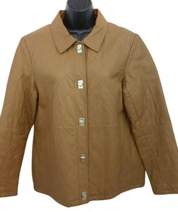 Dialogue Brown Leather Jacket