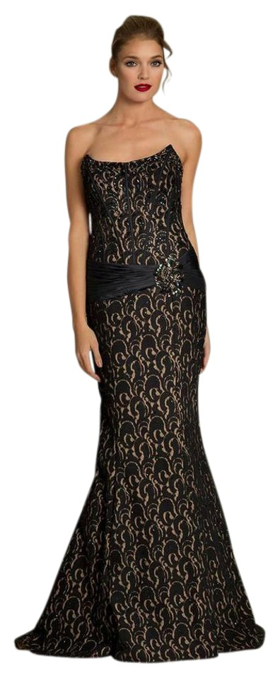 Jovani Black Beaded Evening Gown Long Formal Dress Size 8 M Tradesy