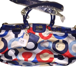 Coach Tote in Blue, Red, White