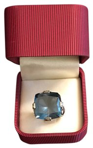 John Hardy John Hardy Blue Topaz 18k and Sterling silver with diamonds