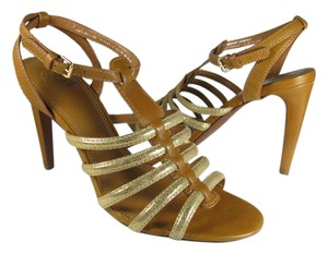 Tory Burch brown/ gold Sandals