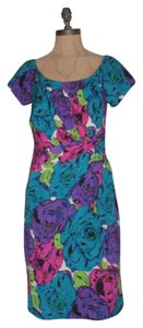 Betsey Johnson Draped Floral Sheath Office Betsey Dress
