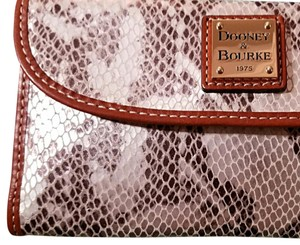 Dooney & Bourke Dooney & Bourke Kitney Silver Python Embossed Leather Clutch Wallet