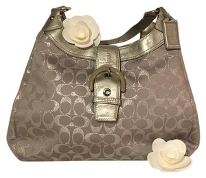 Coach Tote in Silver with Purple Hues