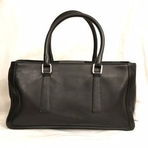 Coach Leather Handbag Satchel in Black