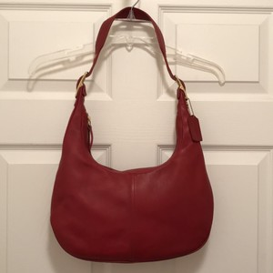 Coach Slim Handbag Hobo Leather Shoulder Bag