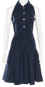 Louis Vuitton short dress Blue Belted Lv Sleeveless on Tradesy