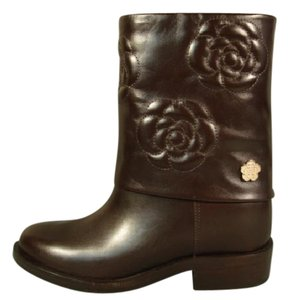 Chanel New Very Dark Brown Boots