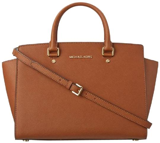 2eb7ac3f6f96 Michael Kors Mk Selma Mk Selma Mk Large Selma Selma Satchel in Luggage  Brown/Gold ...