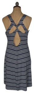 Willow & Clay short dress BLUE Sample Cut-out Twisted Striped on Tradesy