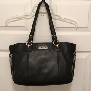 Coach Tote Leather Satchel in Black