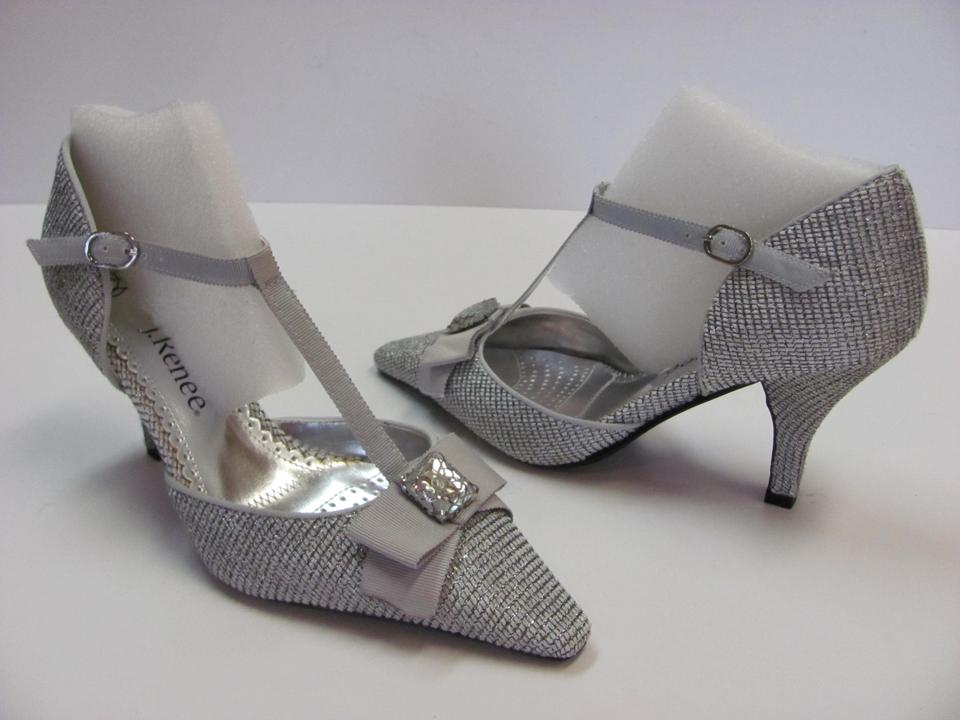 fe1fec56792c J. Reneé Silver Gray M Padded Footbed Excellent Condition Pumps Size US 7  Regular (M