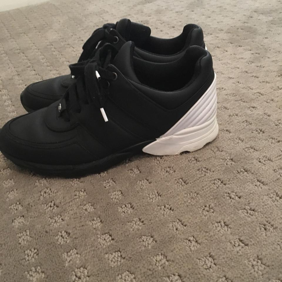 ae83c0c9f06 Chanel Sneakers Trainer Tennis Size 38.5 Black White Athletic Image 11.  123456789101112