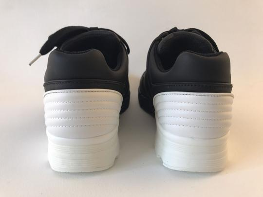 Chanel Sneakers Trainer Tennis Size 38.5 Black White Athletic Image 7