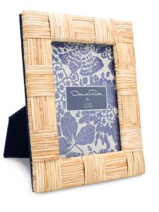 Nwt Oscar De La Renta 5x7 Wicker Brass Photo Frame Gift Box Neiman Mar