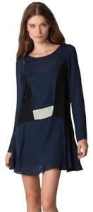 Elizabeth and James short dress navy black on Tradesy