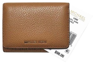Michael Kors CLEARANCE!!! NWT MK Medium Leather Tri-fold Billfold Wallet Coin Purse