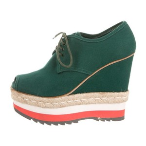 Prada Green Wedges