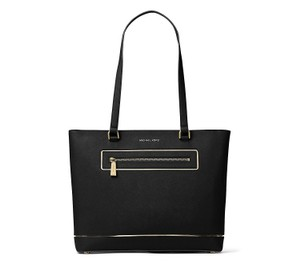 Michael Kors Frame Out Item Large North South Signature Tote in Black