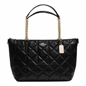 Coach Tote in Imitation Gold/Black