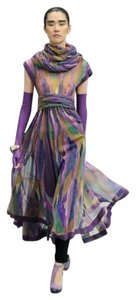 Chanel Scarf Chiffon Gown Silk Dress