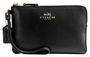Coach Wristlet in Imitation Gold/Black