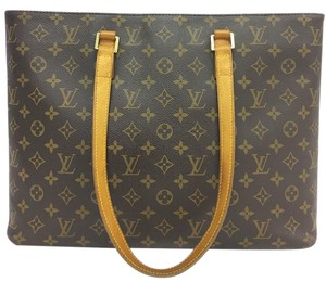 Louis Vuitton Lv Luco Monogram Canvas Tote in brown