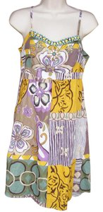 CAbi short dress multicolor Embellished Lightweight Cotton Summer on Tradesy