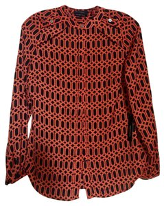 BCBGMAXAZRIA Top black/ dark orange