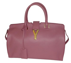 Saint Laurent Ysl Cabas Ligne Y Red Pink Lavender Satchel in light antique rose