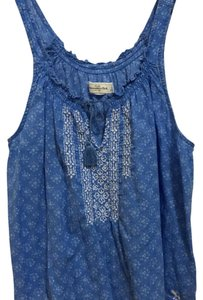 Abercrombie & Fitch & Embroidery Summer Top Blue