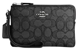 Coach Wristlet in SILVER/BLACK SMOKE/BLACK