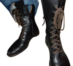 Cole Haan black with brown laces Boots