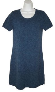 Theory short dress Wool Knit Blue Soft Mini on Tradesy