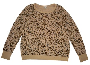 Joie Cotton Leopard Animal Print Sweatshirt