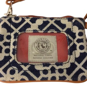 Spartina 449 navy orange and white Clutch
